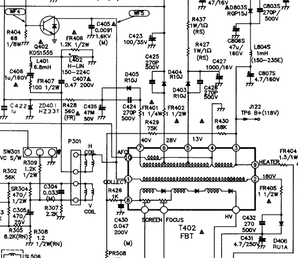 BSC23-N0107 u0432 LG RT-21FA32X MC-019A u0437u0430u043cu0435u043du0438u043b u043du0430 FBT 154-194u0412.